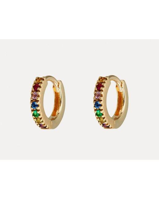 Otiumberg | Metallic Rainbow Huggie Hoops | Lyst