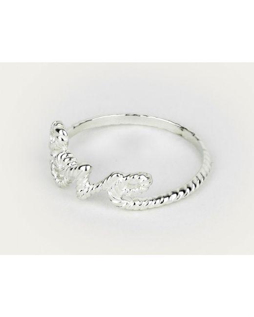 Zoe & Morgan | Metallic Love Lasso Silver Ring | Lyst