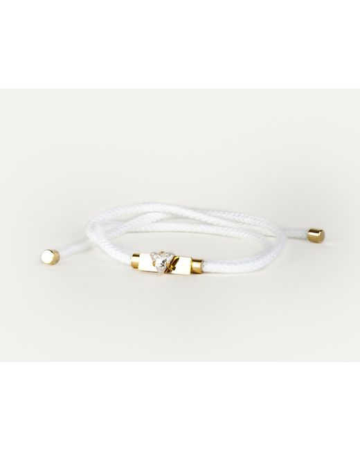 Sabrina Dehoff | White Friendship Bracelet In 23kt Gold With Hand Painted Crystal | Lyst