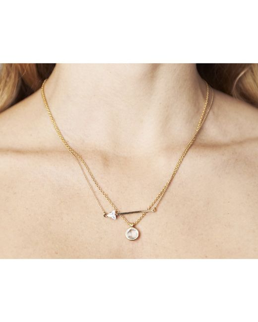 Sabrina Dehoff | Metallic Arrow Pendant Necklace | Lyst