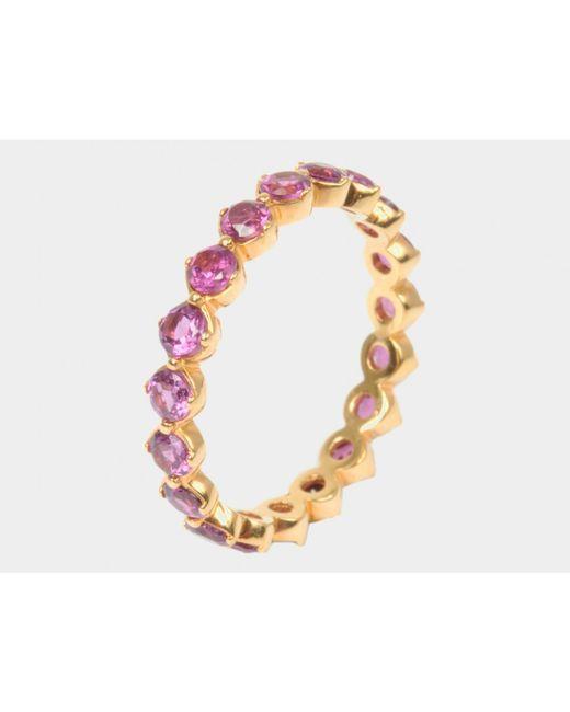Davina Combe | Multicolor Rhodolite Sienna Halo Ring | Lyst