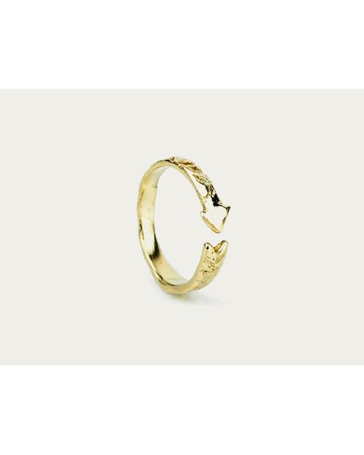 Odette New York | Metallic Arrow Ring Gold | Lyst