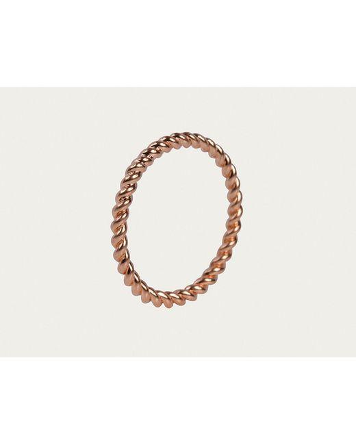 Davina Combe | Pink Rose Gold Twist Ring | Lyst