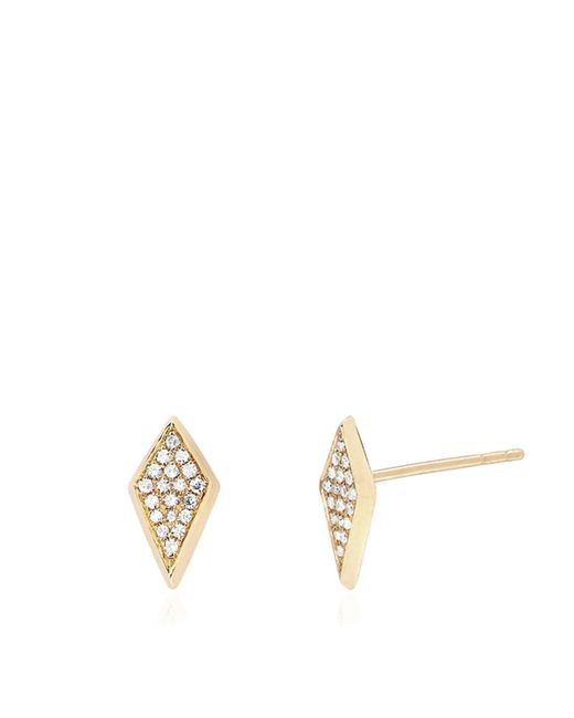 EF Collection | Metallic 14k Diamond Studs | Lyst