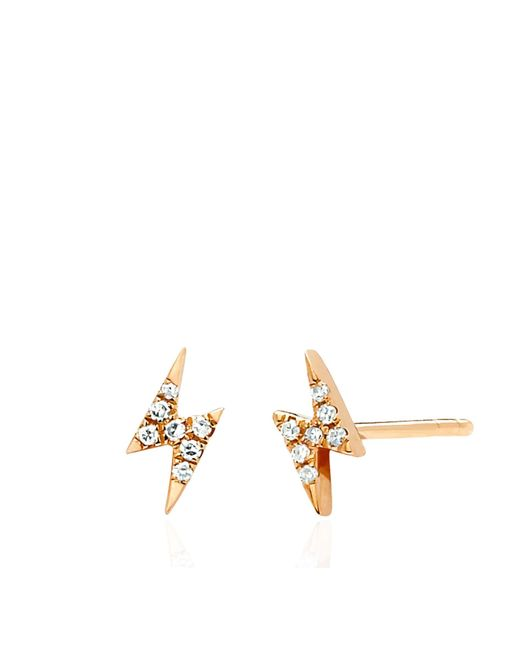 EF Collection | Pink Diamond Mini Lightening Bolt Earrings | Lyst