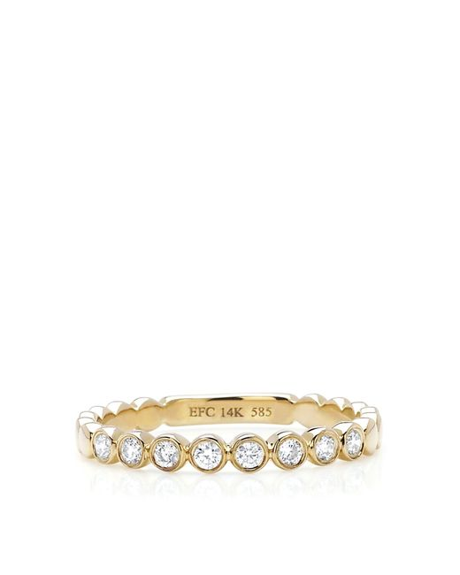 EF Collection | Metallic Bezel Stack Ring | Lyst
