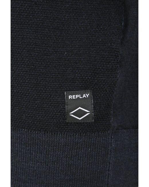 Replay Rundhalspullover »mit Rundhals« und Label-Applikationen in Multicolor für Herren