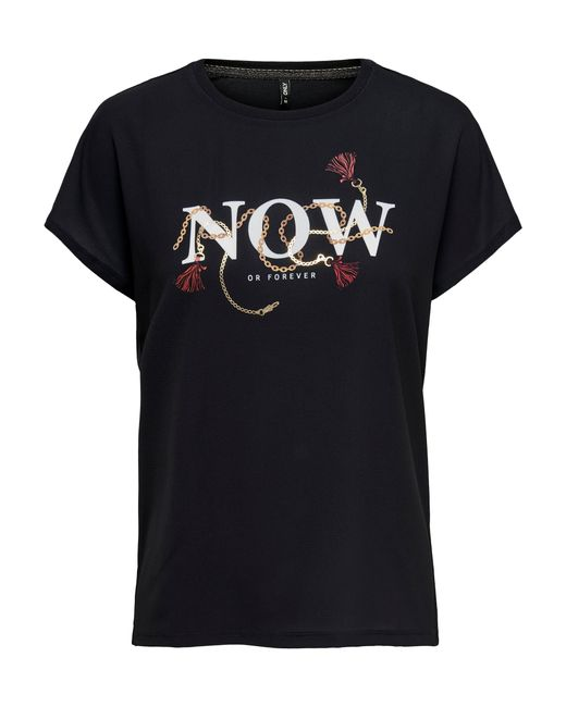 ONLY Black Print-Shirt »CARIN« mit Frontdruck
