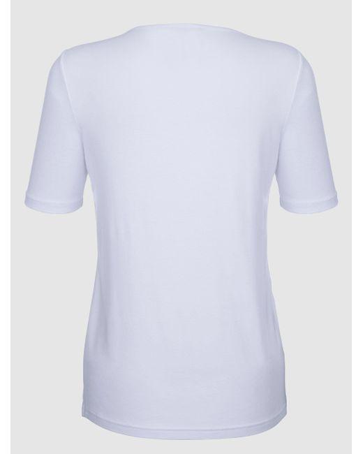 Paola White Shirt mit platziertem Druck