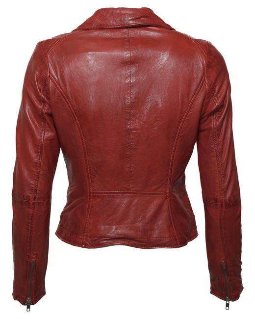 Tom Tailor Red Lederjacke mit asymmetrischem Reißverschluss