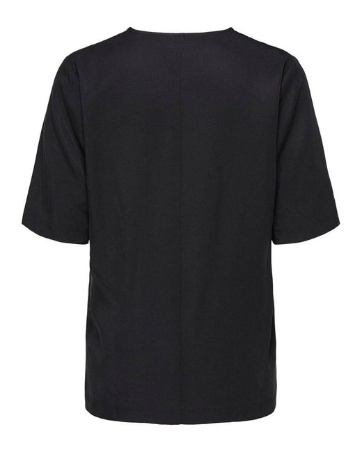 SELECTED Black Locker geschnittenes T-Shirt