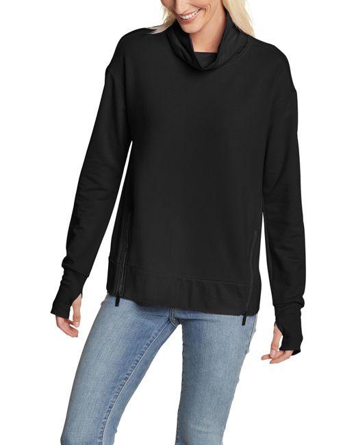 Eddie Bauer Black Sweatshirt Everday Enliven mit seitlichen Reißverschluss