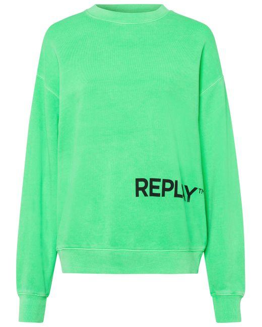 Replay Green Sweatshirt mit lässig überschnittenen Schultern