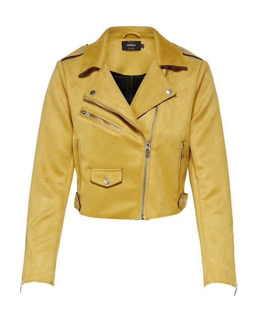 ONLY Orange Biker Jacke
