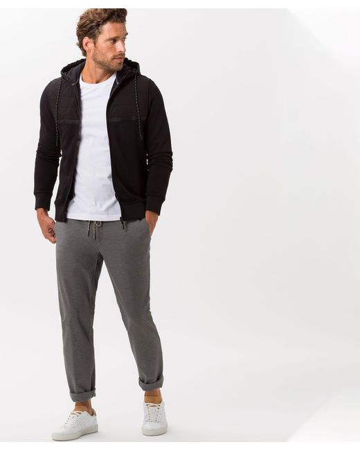 Brax Sweatjacke »Style Sammy« in Black für Herren