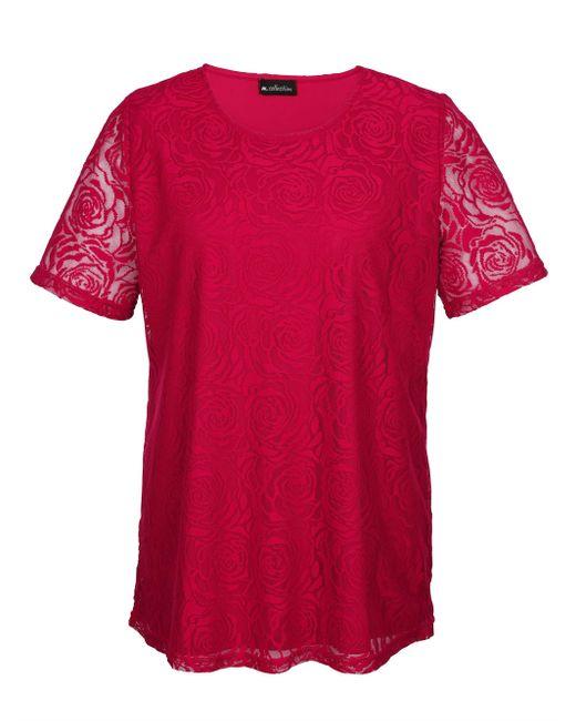 m. collection Red Spitzenshirt rundum aus edler Spitze