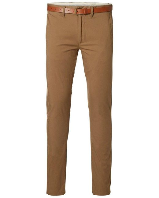 SELECTED Slim-Fit- Hose in Brown für Herren
