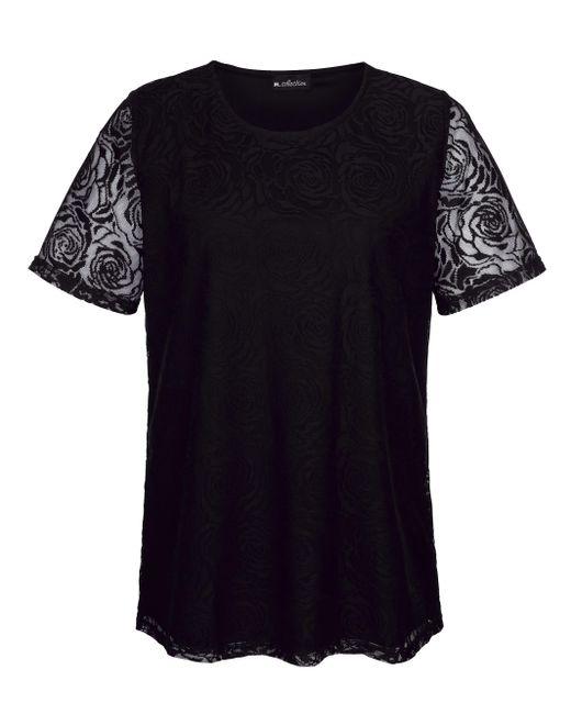 m. collection Black Spitzenshirt rundum aus edler Spitze