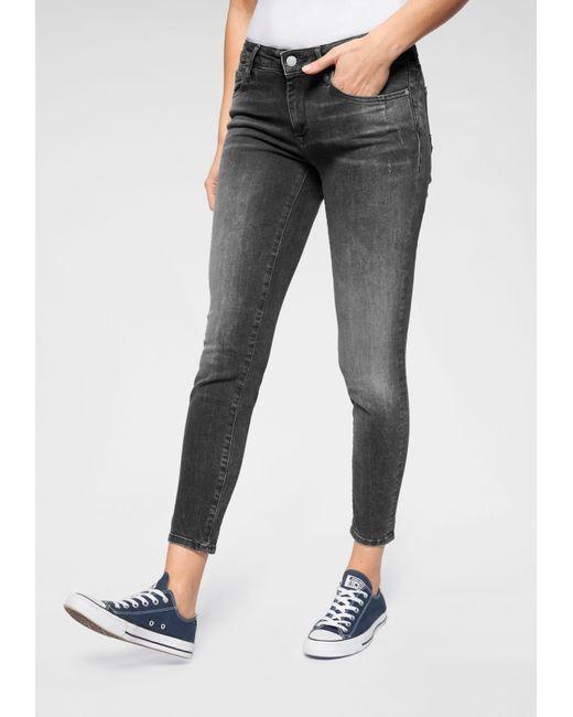 Mavi Gray Skinny-fit-Jeans »ADRIANA ANKLE« in Crash- und Crinkle-Optik