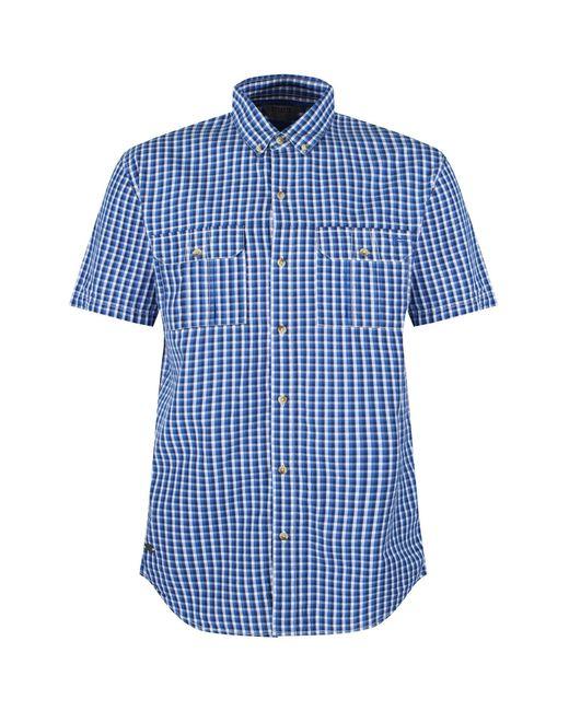 Regatta Karohemd »Herren Rainor, kurzärmlig« in Blue für Herren