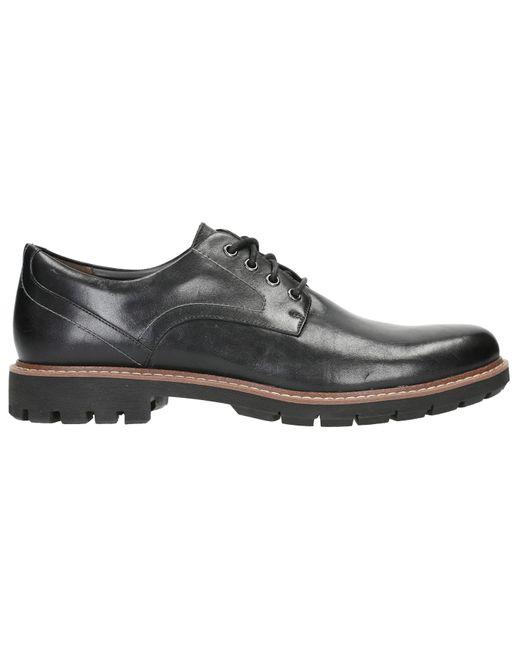 Clarks »Batcombe_Hall« Schnürschuh mit heller Ziernaht an der Laufsohle in Black für Herren