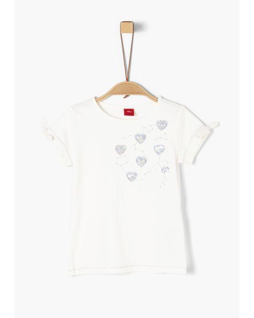 S.oliver White Jerseyshirt_für Mädchen