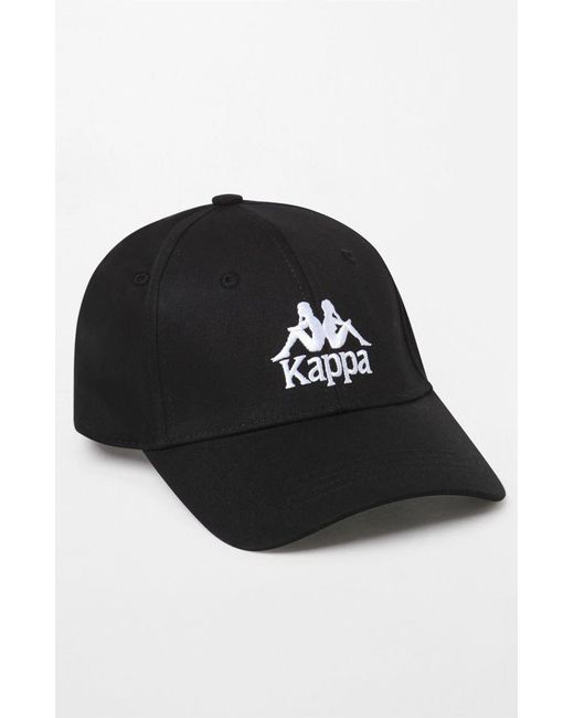 Kappa - Black Strapback Dad Hat for Men - Lyst ... 749ecb07ade8