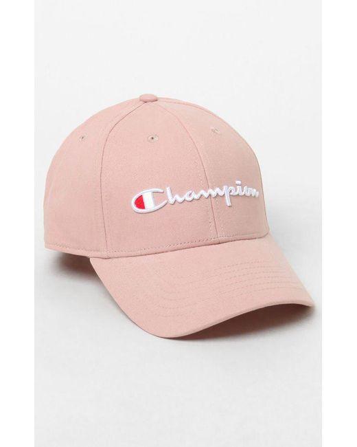 e71f4847a01 Champion - Pink Classic Twill Lab Dip Strapback Dad Hat for Men - Lyst ...