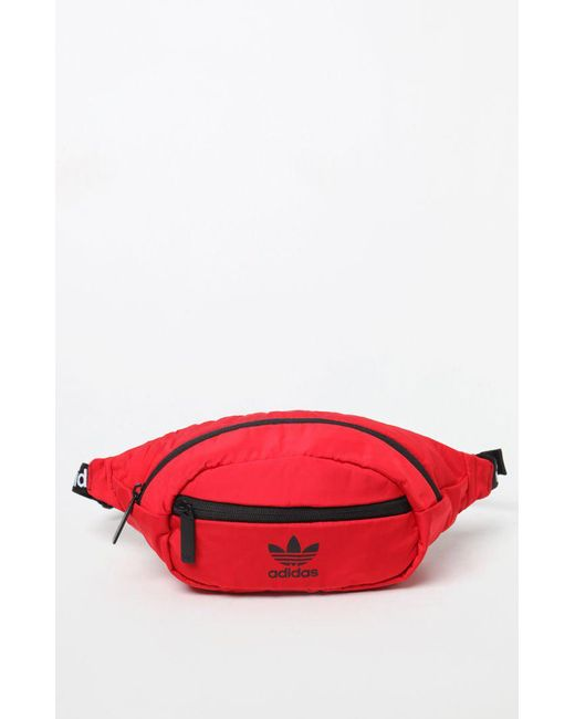 4f7e8bddf72 ... Lyst - Adidas National Red Black Waist Pack in Red for Men latest ba5f2  2430e  Adidas Originals Large Flight Bag ...
