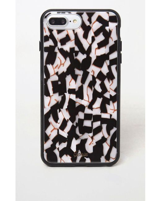 Sonix Black Geometric-print Rubber Iphone 8 Plus Case