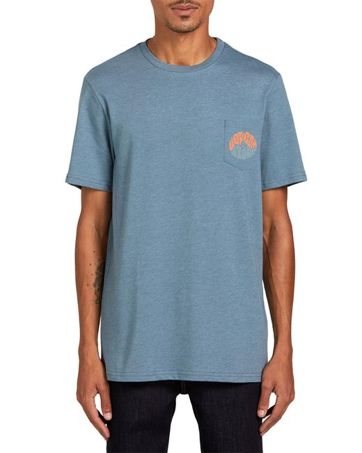 Volcom Blue Raydiate Short Sleeve Pocket T-shirt for men