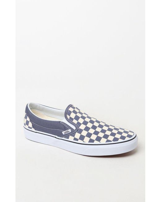 7ced47b6bc2 Vans - Blue Color Theory Checker Slip-on Shoes for Men - Lyst ...