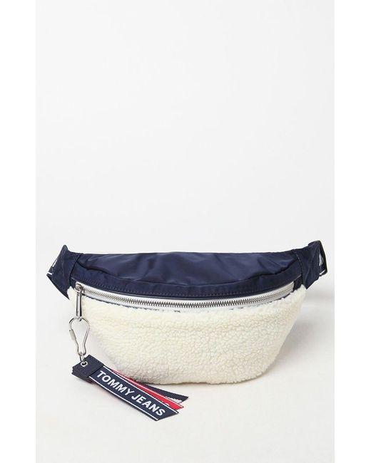 Tommy Hilfiger - Blue Logo Taped Fleece Bum Bag - Lyst