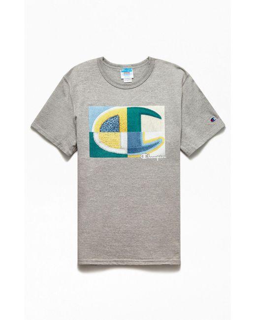 Champion Gray C Short Sleeve Graphic T-shirt for men