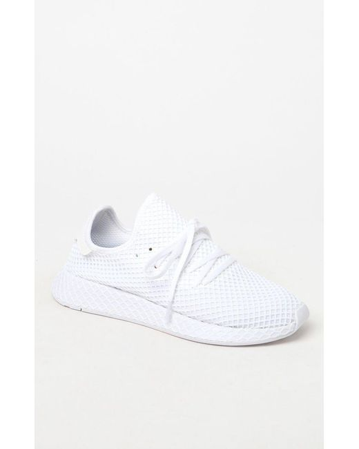 pretty nice 159a0 7802b Adidas - White Deerupt Runner Shoes for Men - Lyst ...