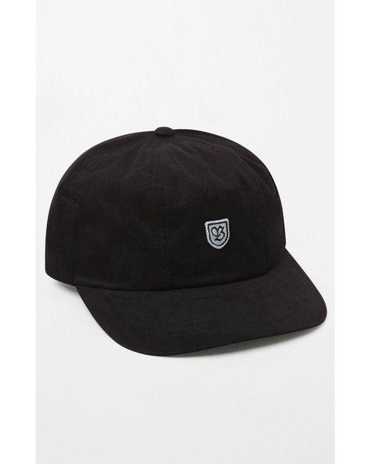 Brixton - Black B-shield Iii Strapback Dad Hat for Men - Lyst ... 244bdbb7718