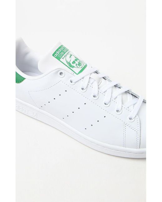 new arrival 31a77 4e869 Men's White & Green Stan Smith Shoes