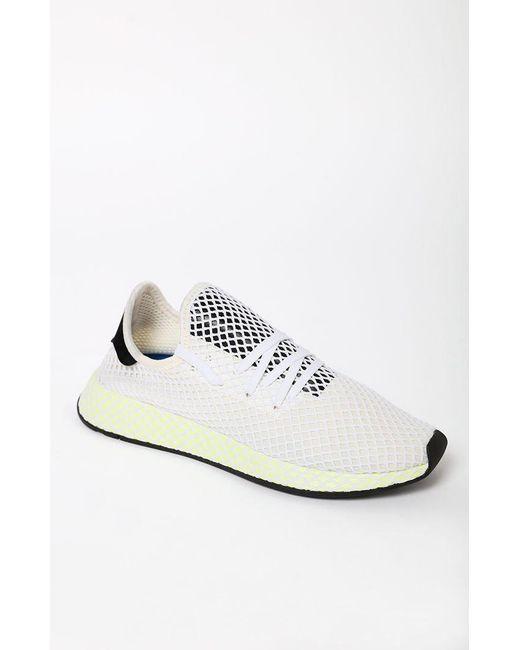 pretty nice 8af3d 39573 Adidas - White Deerupt Runner Shoes for Men - Lyst ...