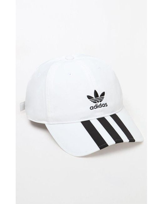 Adidas - White Relaxed Applique Strapback Dad Hat for Men - Lyst ... f4784d381c8
