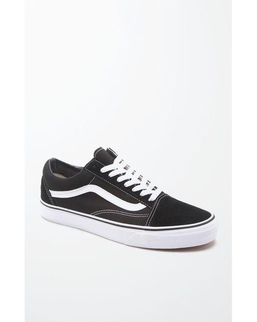e348260b1a8 Lyst - Vans Canvas Old Skool Black   White Shoes in Black for Men