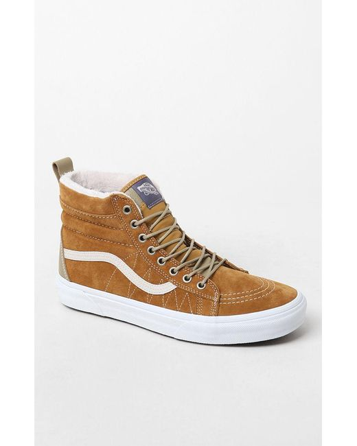 55de03d96c Vans - Brown Sk8-hi Mte Tan Shoes for Men - Lyst ...