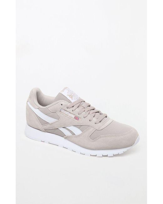 140cc4ea230 Reebok - White Classic Leather Estl Parchment Shoes for Men - Lyst ...