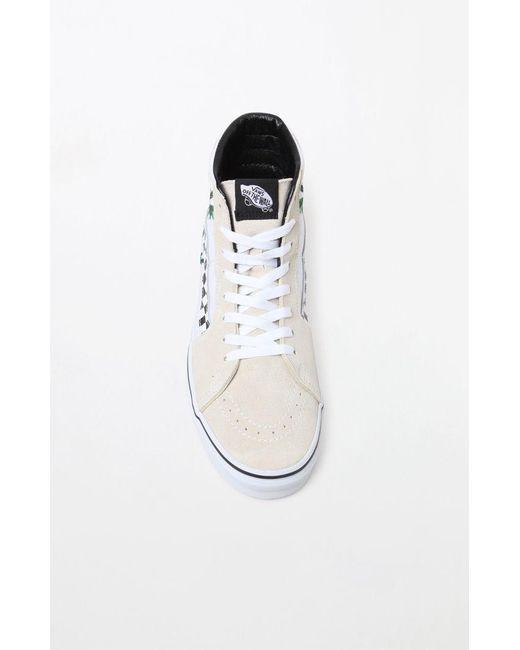 Lyst Vans Women S Cream Sk8 Hi Sneakers In Natural