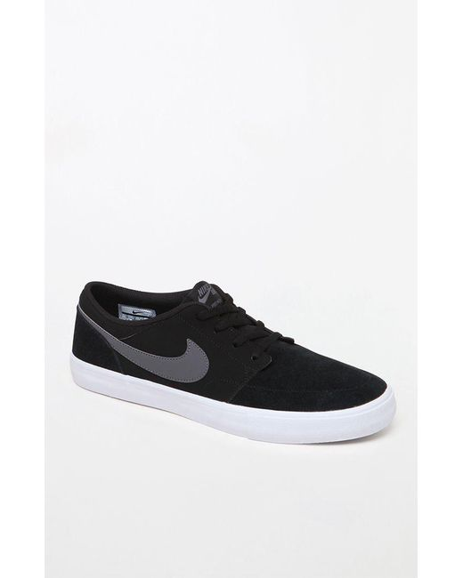 new concept 6eb95 56a12 Nike - Solarsoft Portmore Ii Black   Gray Shoes for Men ...