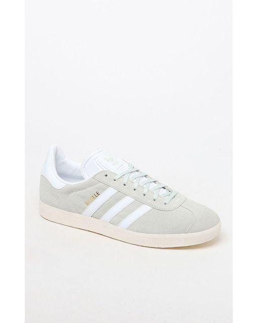 Adidas - Gazelle Mint Green & White Shoes for Men - Lyst
