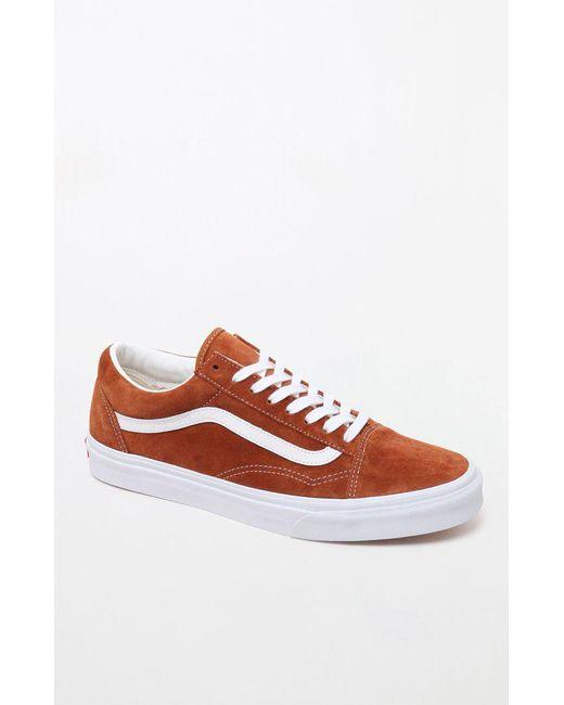 ac0aeca46d Lyst - Vans Pig Suede Old Skool Brown Shoes in Brown for Men