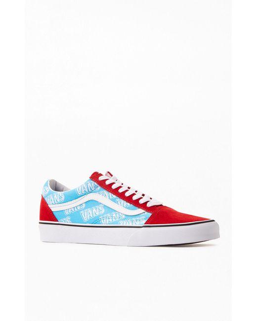 Vans Blue Retro Mart Old Skool Shoes for men