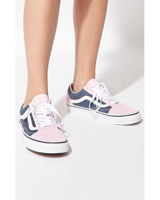 0e053f2c5268c2 Lyst - Vans Women s Blue   Pink Old Skool Sneakers in Blue
