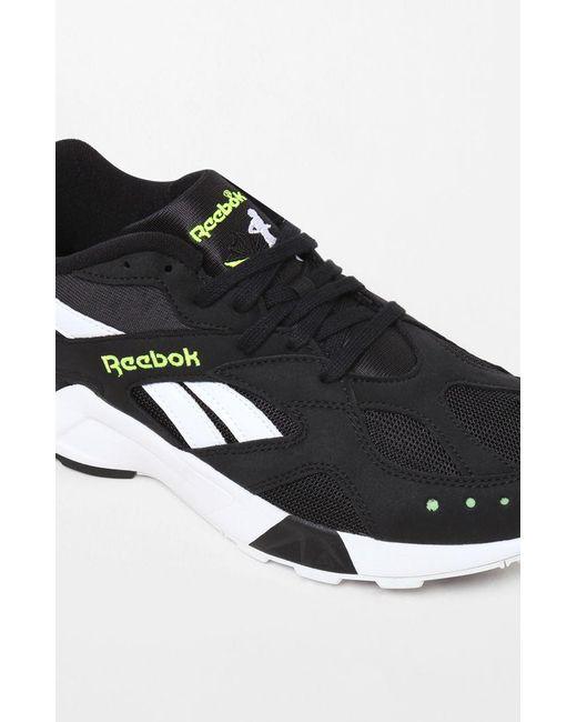 Lyst - Reebok Aztrek Black   White Shoes in Black for Men - Save 21% 1cc0b86b6