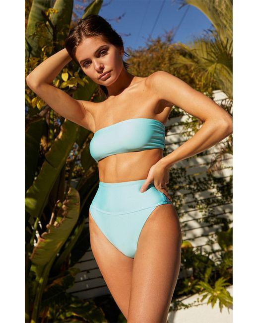 VYB Blue Reckless Bandeau Bikini Top